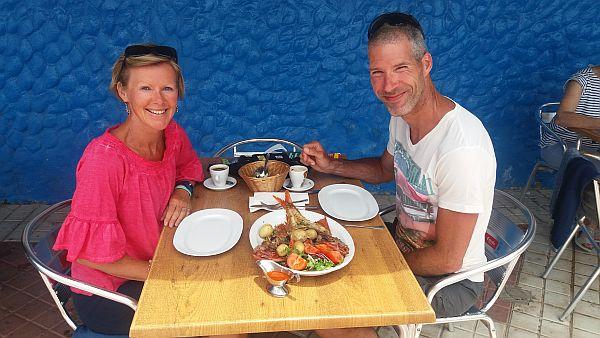 Pascal & Sabine in een locaal restaurant