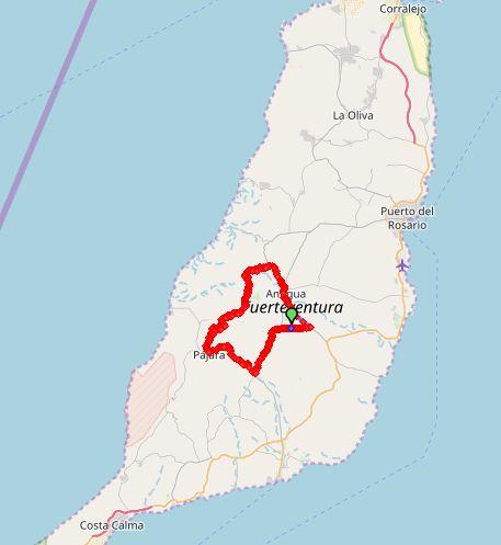 VillaVital rondjeBetancuria map1