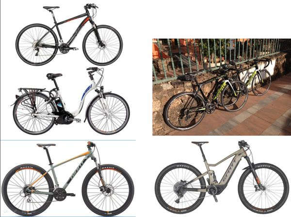 overview rental bikes
