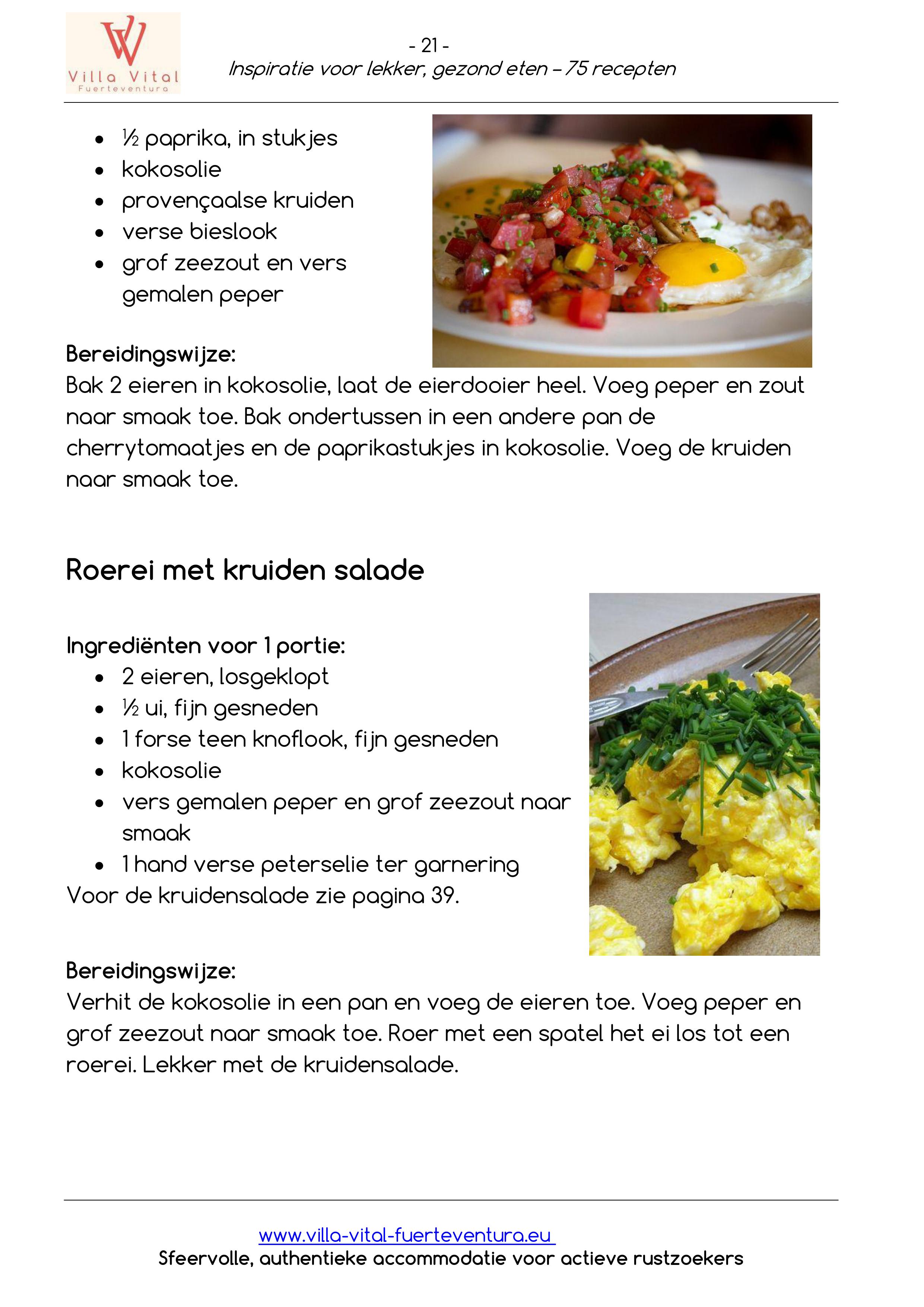 Recepten E book inspiratie voor lekker gezond eten 21
