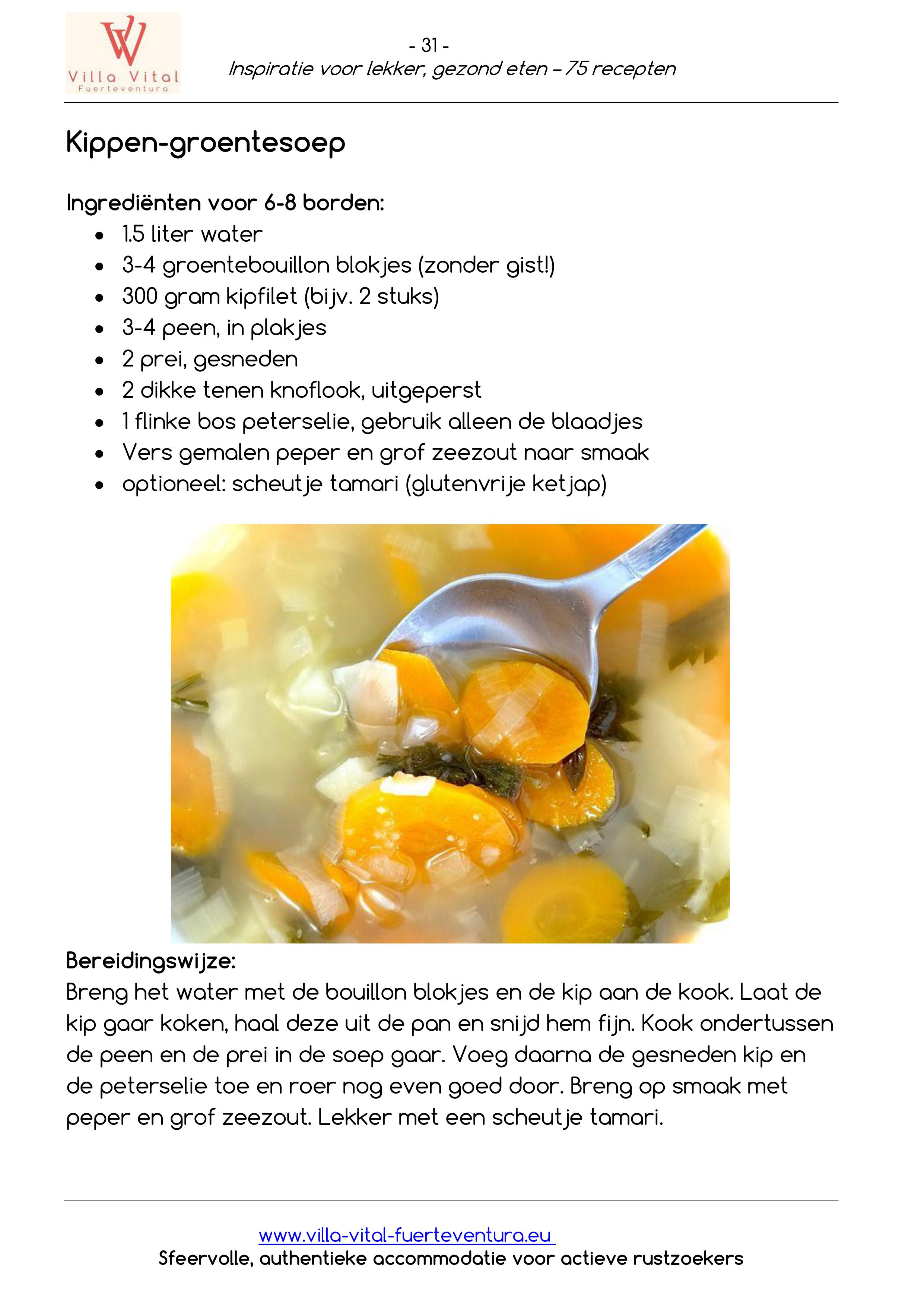 Recepten E book inspiratie voor lekker gezond eten 31