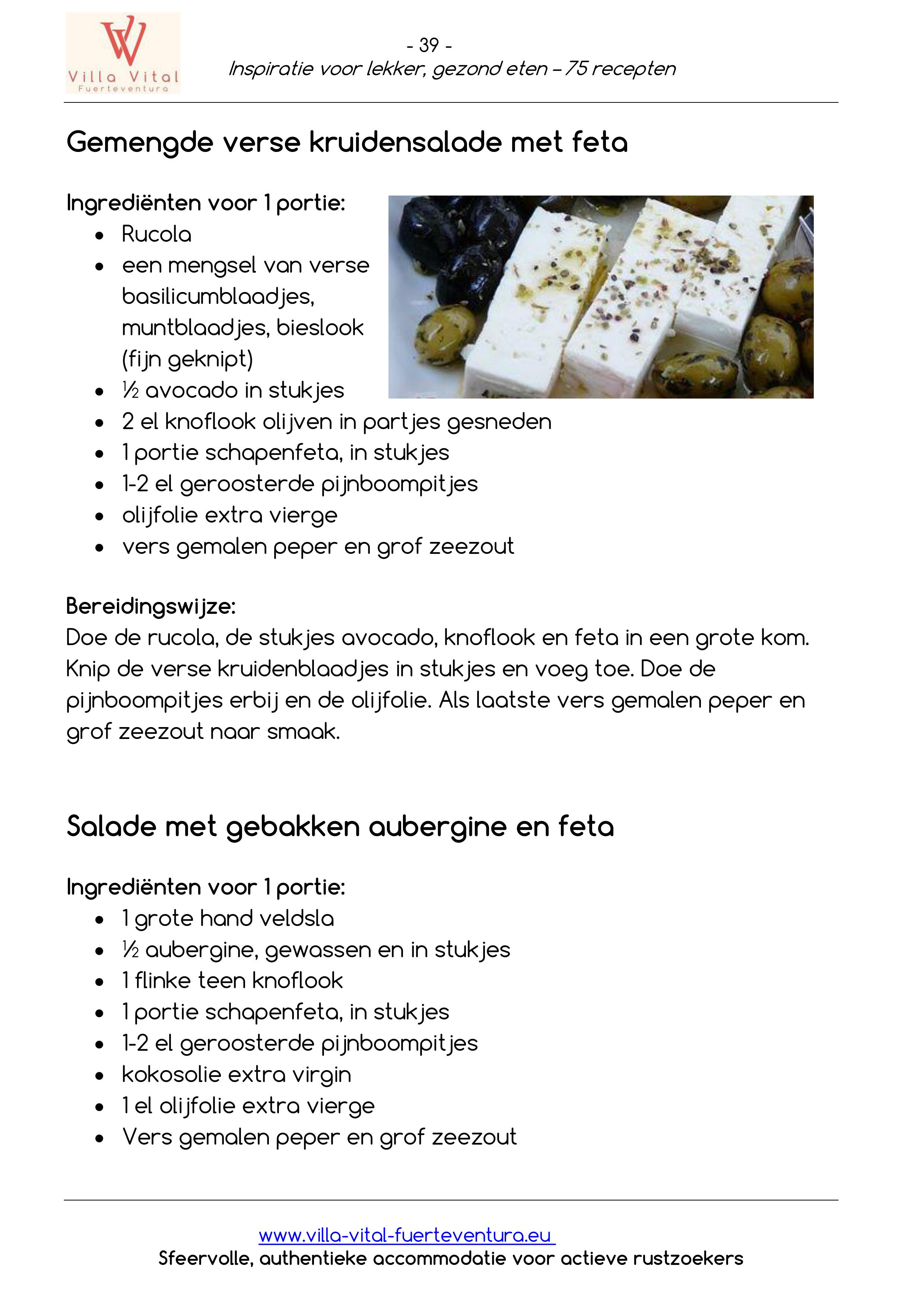 Recepten E book inspiratie voor lekker gezond eten 39