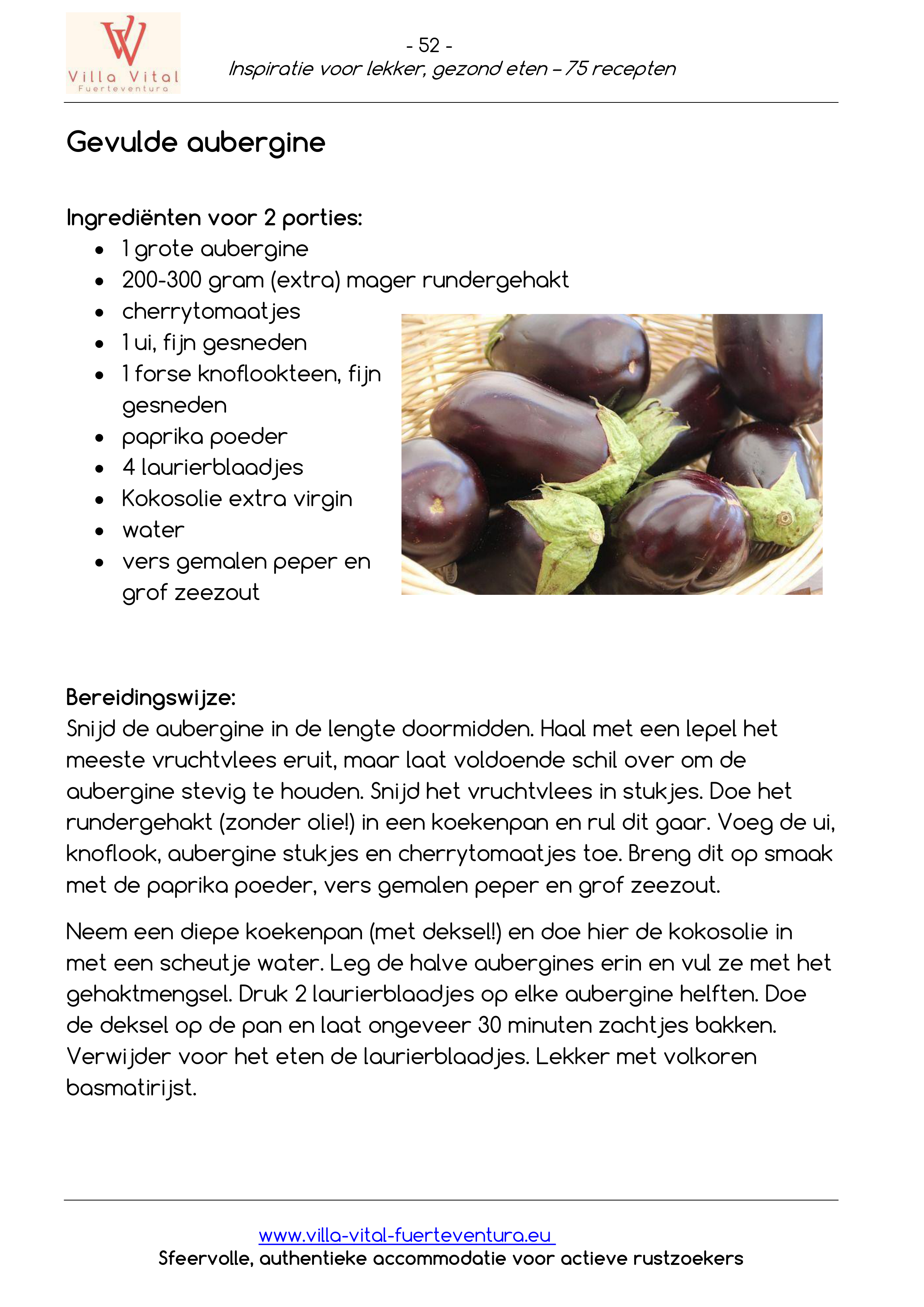 Recepten E book inspiratie voor lekker gezond eten 52
