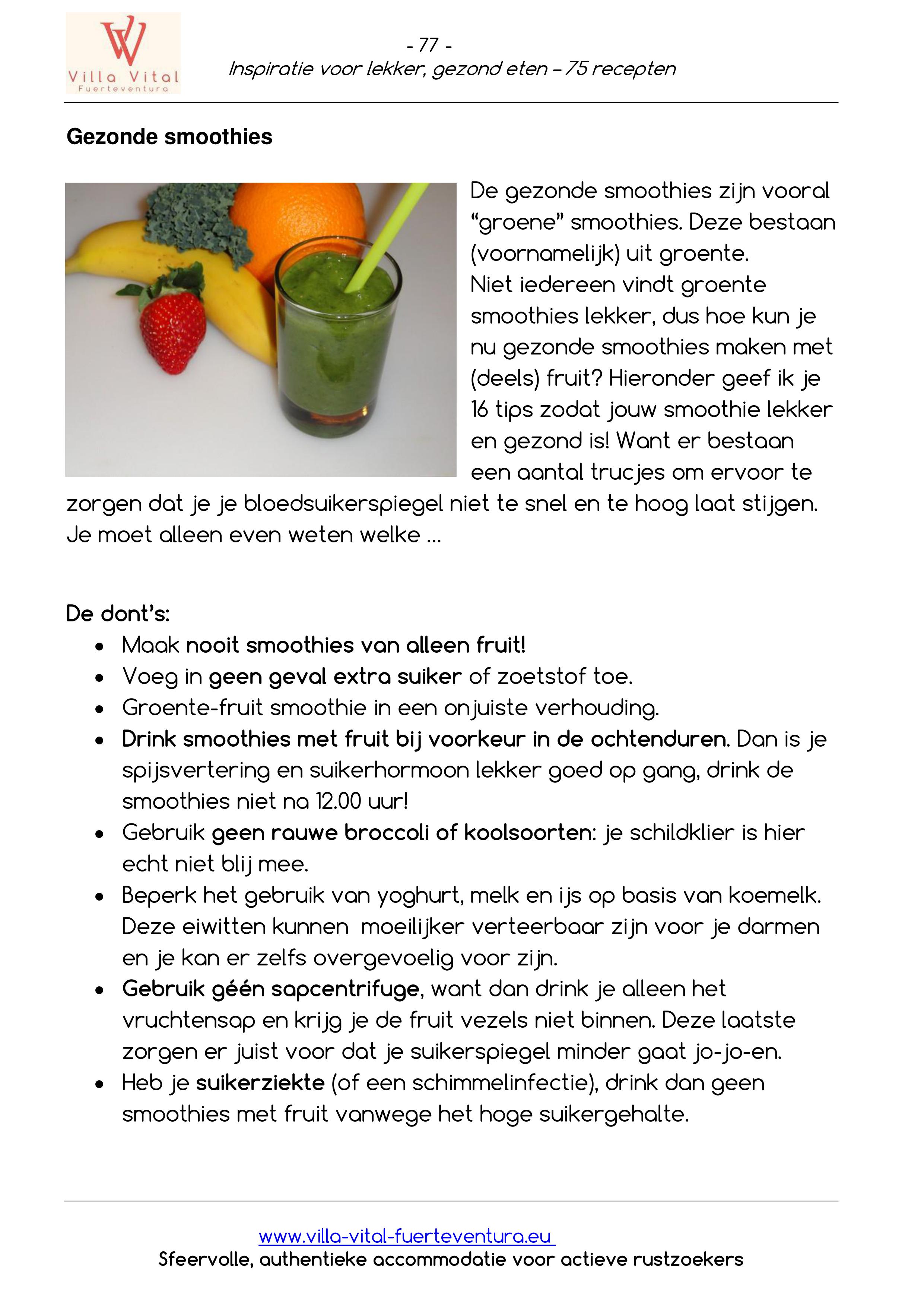Recepten E book inspiratie voor lekker gezond eten 77