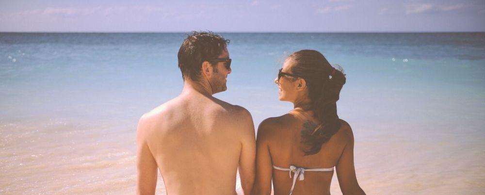 man vrouw strand