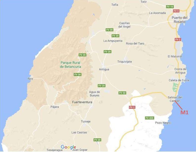 Wandelroutes Fuerteventura: het midden